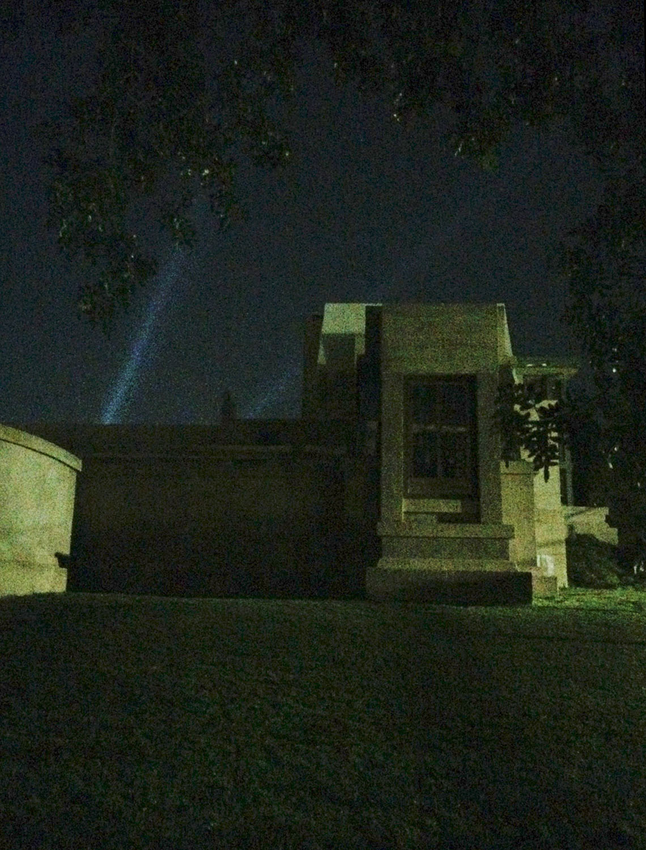 Hollyhock House Exterior Night