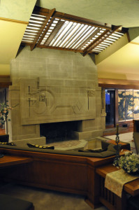 Hollyhock House Fireplace