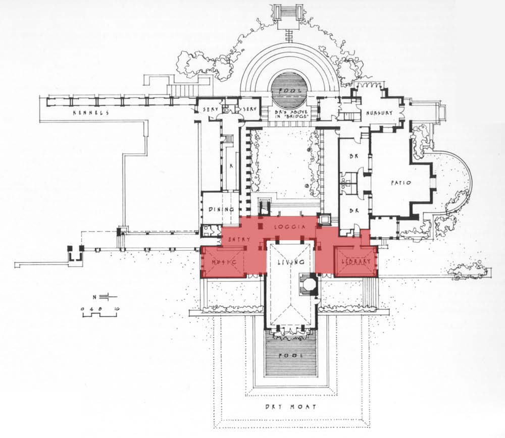 Hollyhock House Plan