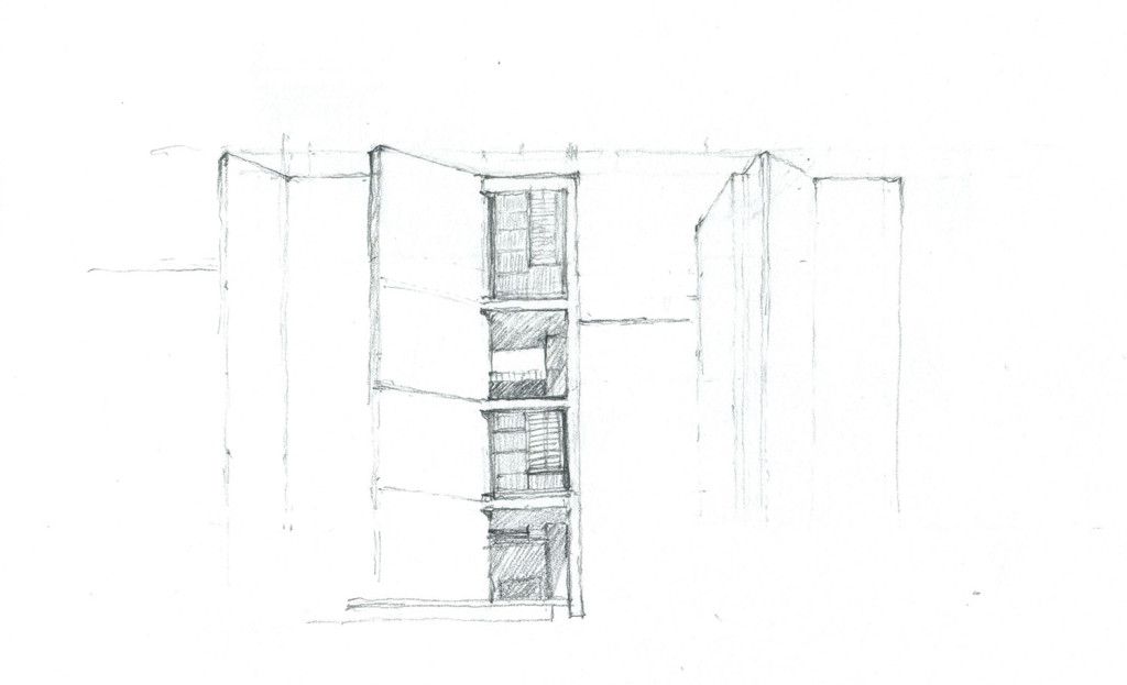 Parson Architecture Salk Institute Sketch