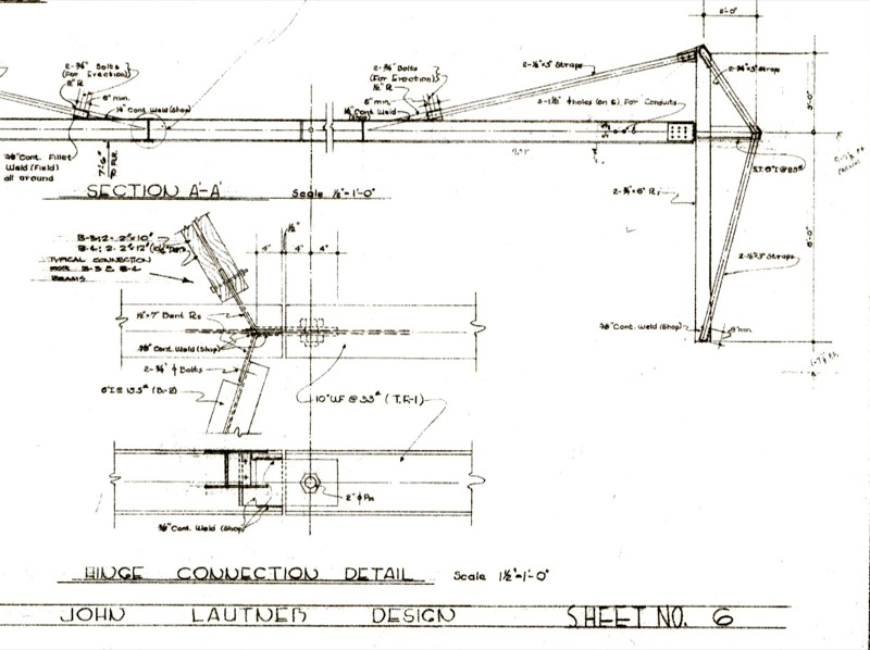 John Lautner Jacobsen House - Parson Architecture: The Blog. Structural Detail Drawing