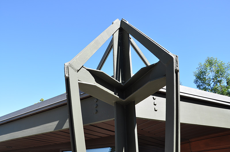 John Lautner Jacobsen House - Parson Architecture: The Blog. Steel Truss Top