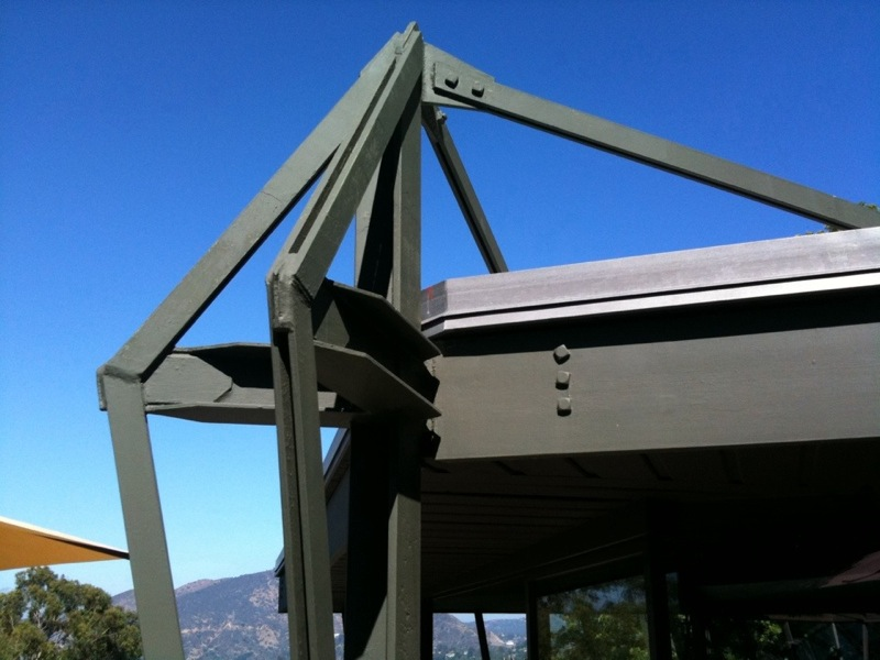 John Lautner Jacobsen House - Parson Architecture: The Blog. Steel Truss top 2