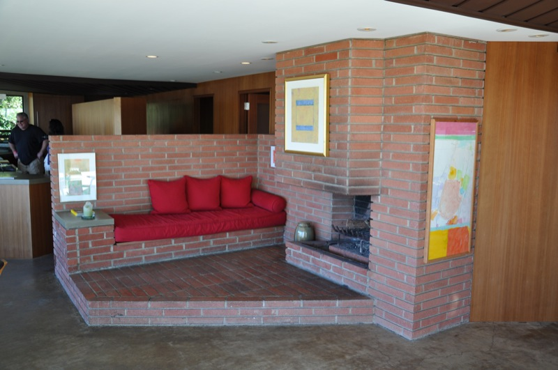 John Lautner Jacobsen House - Parson Architecture: The Blog. Interior Fireplace-1