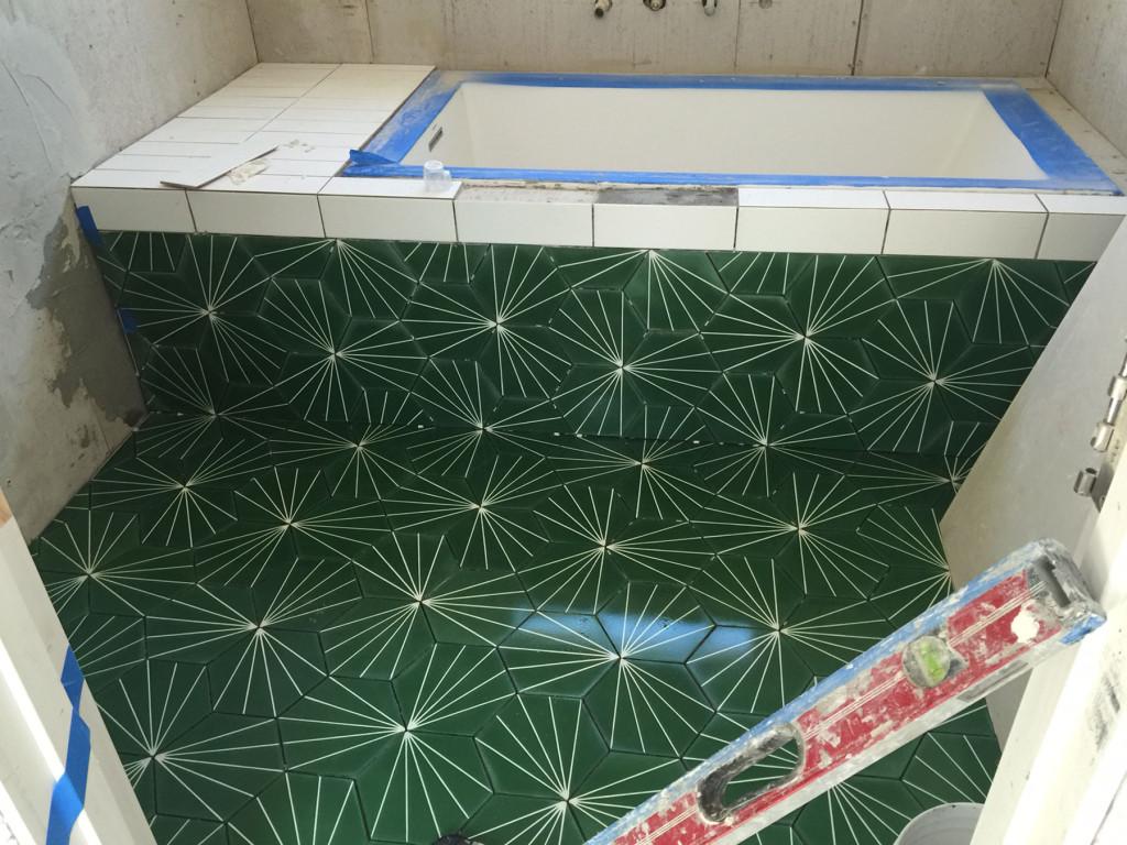 Parson Architecture Oxford Square Historic HPOZ Modern Renovation Interior Dandelion Moroccan Cement Tile